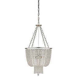 Jacqueline Chandelier(Burnished Silver/Clear Glass)-OPEN BOX