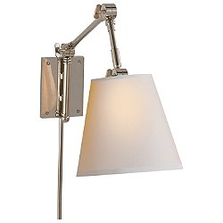 Graves Pivoting Wall Sconce (Polished Nickel) - OPEN BOX