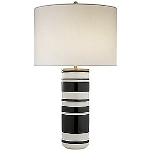 Hayes Sculpted Cylinder Table Lamp by Visual Comfort