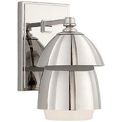 Whitman Bath Wall Light (Polished Nickel with White Glass Shade) - OPEN BOX RETURN
