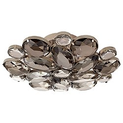 Lloyd Round Semi-Flush Mount Ceiling Light (Antique Nickel) - OPEN BOX RETURN