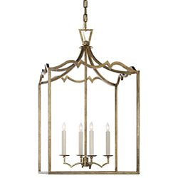 Darlana Fancy Lantern Pendant (Gilded Iron/Large) - OPEN BOX
