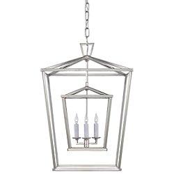 Darlana Double Cage Lantern Pendant(Nickel/Large) - OPEN BOX