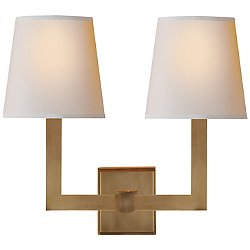 Square Tube Double Wall Sconce (Brass) - OPEN BOX RETURN
