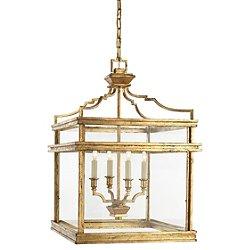 Mykonos Lantern Pendant (Gilded Iron) - OPEN BOX RETURN