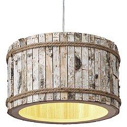 Woody One Light Drum Pendant Light