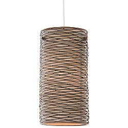 Flow 1 Light Mini Pendant Light with Silk Shade