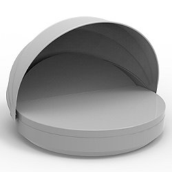 Vela Reclining Round Daybed with folding sunroof