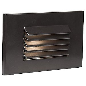 Horizontal Louvered LED Step and Wall Light by WAC Lighting