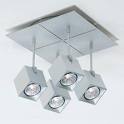 Dau Spot 4-Light Square Semi-Flush Mount Ceiling Light