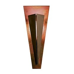 Tapered Angle Wall Sconce With Copper