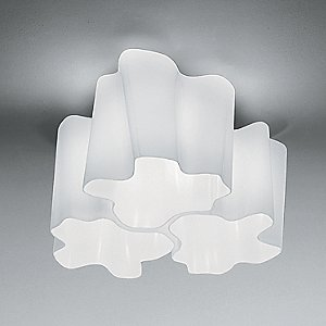 Logico Micro Triple Nested Semi-Flushmount Light by Artemide