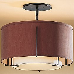 Exos Small Double Shade Semi-Flush Mount Ceiling Light