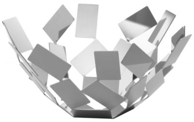 AlessiKaleidos Basket in 18//10 Stainless Steel Mirror Polished Silver