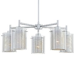 Grid II 5-Light Chandelier