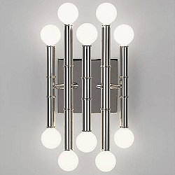 Meurice 10 Light Wall Sconce(Polished Nickel) - OPEN BOX