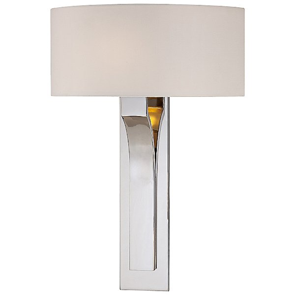 P1705 Wall Sconce By George Kovacs - Color: White - Finish: Nickel - (p1705-613)
