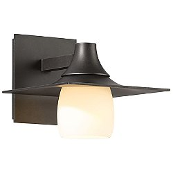 Hood Outdoor Wall Light with Glass