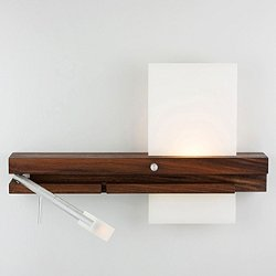 Levo LED Bedside Sconce and Reading Light with USB Charger