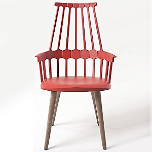 Comback Chair, Wood Legs, Set of 2 by Kartell