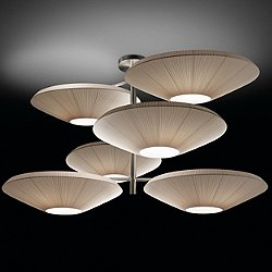Siam Semi-Flush Mount Ceiling Light