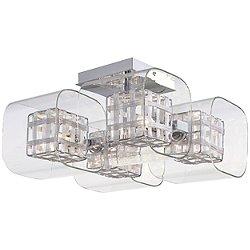 Jewel Box 4 Light Semi Flush Mount Ceiling Light