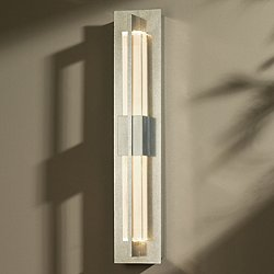 Double Axis Vintage Platinum LED Wall Sconce