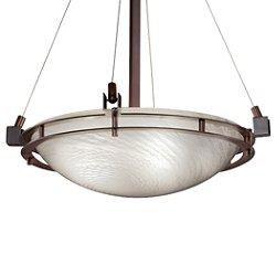 Fusion Metropolis Round Bowl Pendant Light
