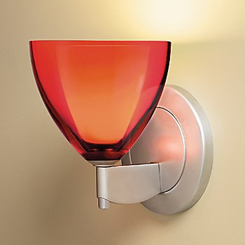 Shown in Red glass, Matte Chrome finish
