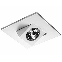 4 Inch Premium Low Voltage Directional Square Spot Trim - 30 Degree Adjustment from Vertical - HR-D416
