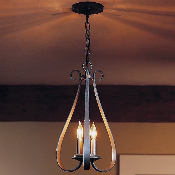 Sweeping Taper Three Arms Chandelier