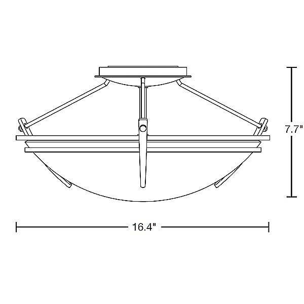 Presidio Tryne 15 Inch Semi-Flush Ceiling Fixture