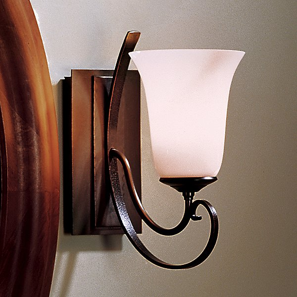Scroll Single Line Wall Sconce with Glass