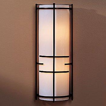 White Art glass / Bronze finish