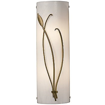 Shown in Ivory Glass color, Gold finish, Left Position