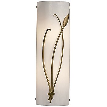 Shown in Ivory Glass color, Gold finish, Right Position