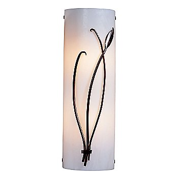 Shown in White Glass color, Mahogany finish, Right Position