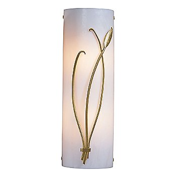Shown in White Glass color, Gold finish, Right Position