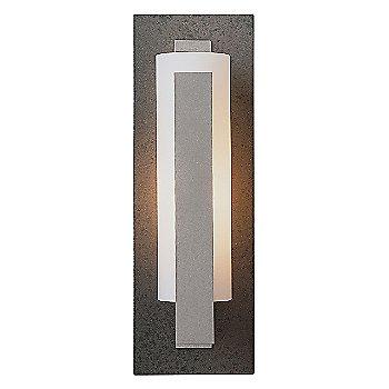 Opal glass / Steel back finish / Burnished Steel finish