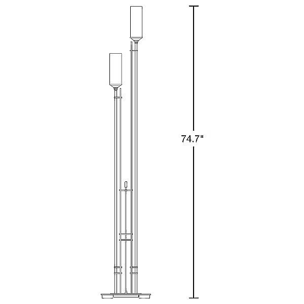 Metra Twin Tall Floor Lamp