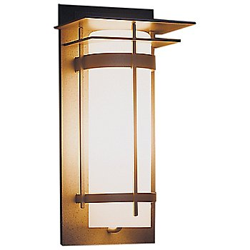 Shown in Opal glass, Natural Iron finish, Medium size