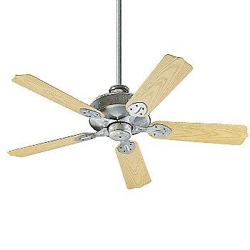 Galvanized Fan Body with Medium Oak Blade finish