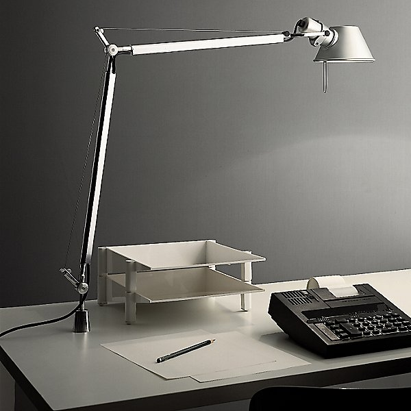 Black Tolomeo 9 Inch Classic Table Lamp Artemide Tol0031, Tolomeo Table Lamp With Clamp
