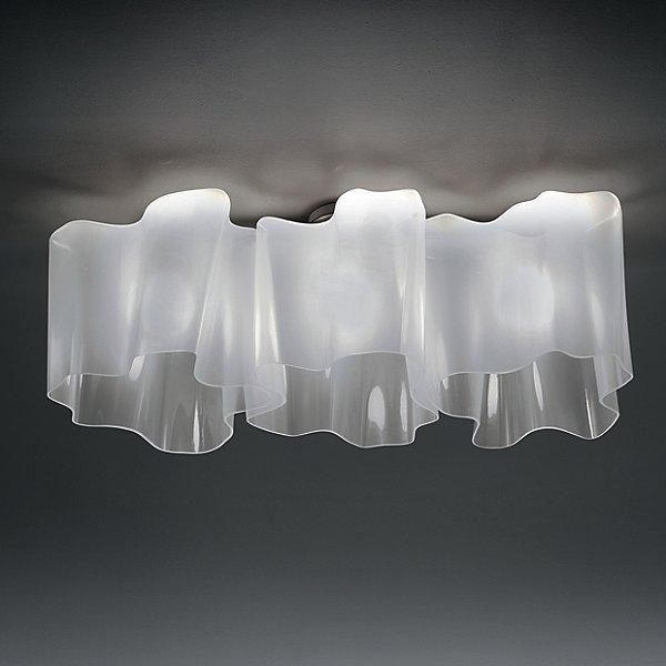 Logico Triple Linear Semi-Flush Mount Ceiling Light
