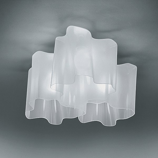 Logico Triple Nested Semi-Flushmount Light