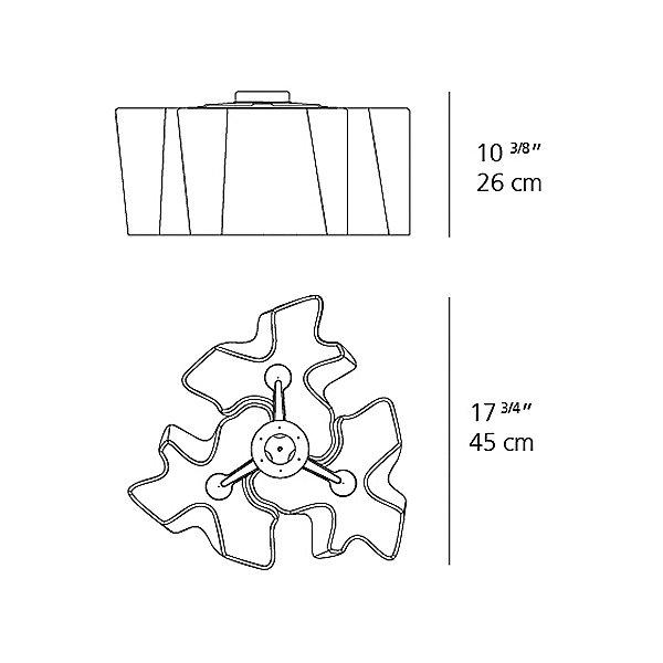 Logico Mini Triple Nested Semi-Flushmount Light