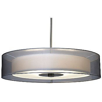 Satin Nickel finish with Silver Organza shade / Large size