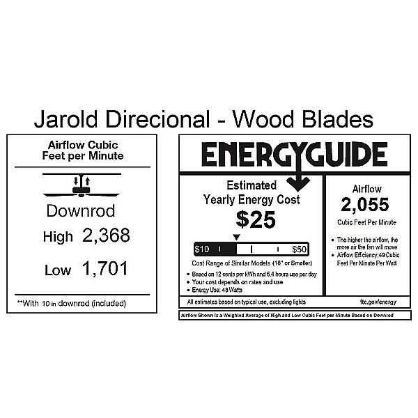 Jarold Direcional Ceiling Fan - Metal Blades