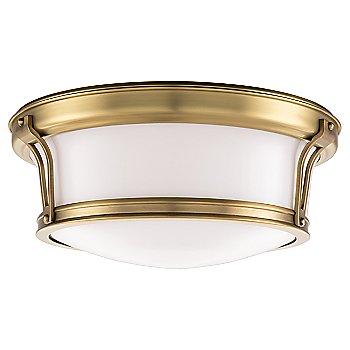 Shown in Aged Brass finish, Medium size