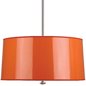 Shown in Orange Ceramik Parchment with Mylar Lining shade